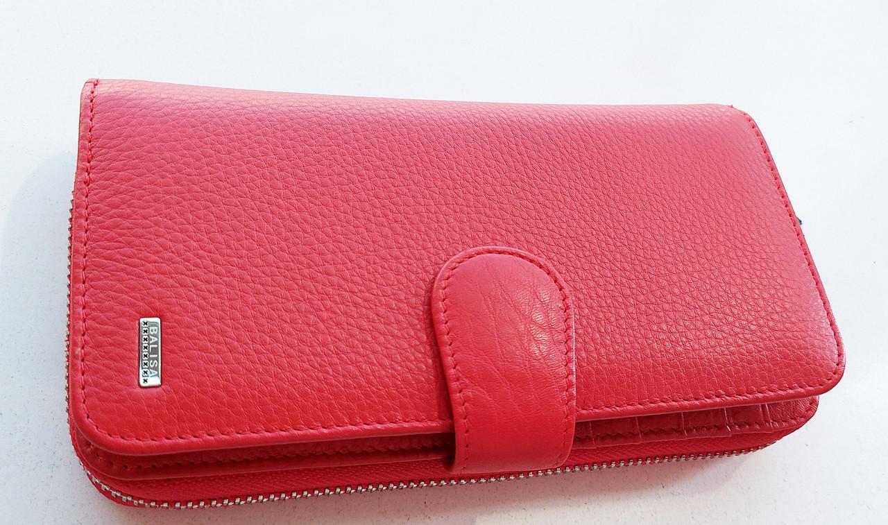 Жіночий шкіряний гаманець Balisa 3-925 червоний шкіряний гаманець з візитницею на магніті