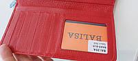 Жіночий шкіряний гаманець Balisa 3-925 червоний шкіряний гаманець з візитницею на магніті, фото 4