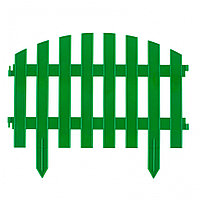 "Заборчик 3 метра ""МАРОККО"" 28х300см, 7 секций зелёный // PALISAD хп^65030"