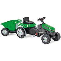 Детский трактор на педалях с прицепом для 3-9 лет (143*51*51)