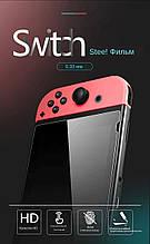 Закаленное защитное стекло Data Frog для Nintendo Switch / Есть чехлы