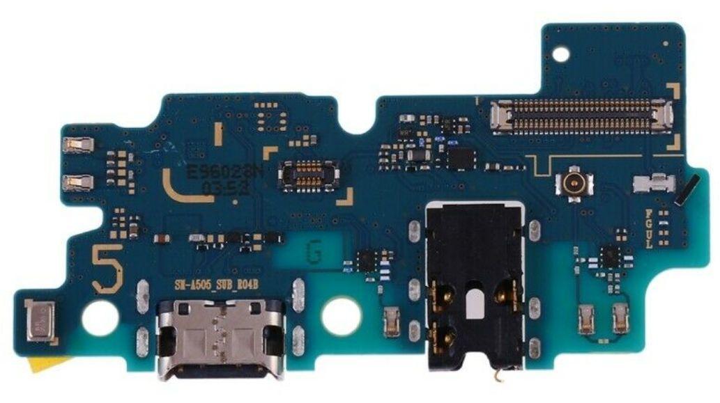 Нижняя плата Samsung Galaxy A50 2019 A505F с разьемом зарядки наушников и микрофоном