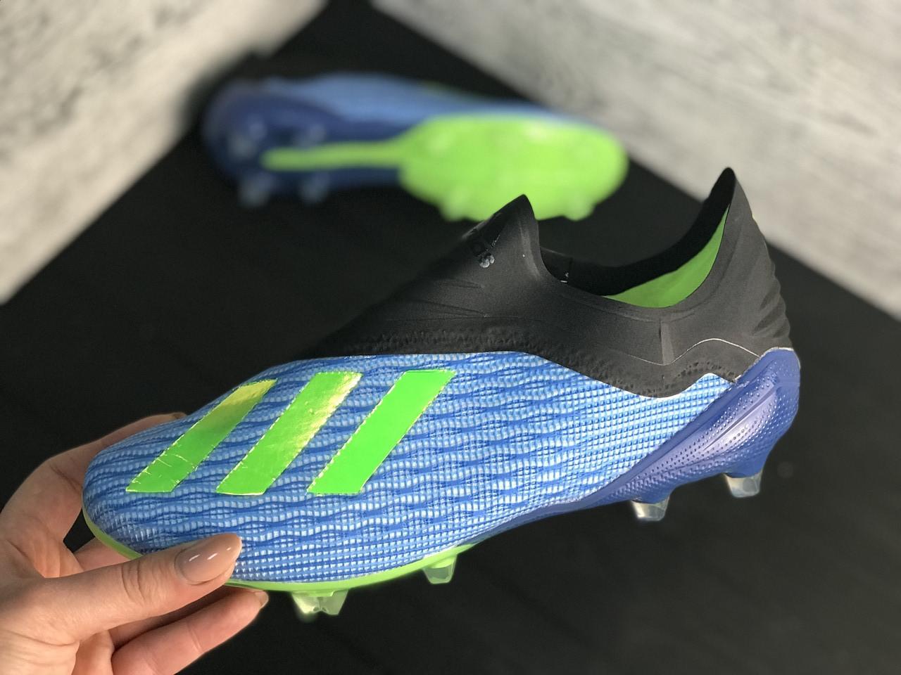 Бутсы Adidas X 18.1 / копы адидас/без шнурков(реплика) - 45