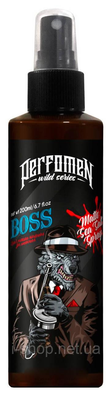 """Матовый солевой спрей для укладки волос Perfomen """"BOSS"""" 200мл"""