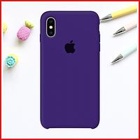 Ультра-фиолетовый силиконовый чехол на iPhone Xs Max