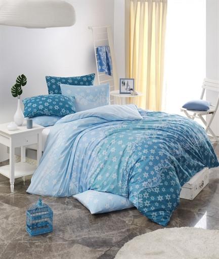Евро Комплект постельного белья Ranforce Calypso 200x220 см. (6650_2.0LH)