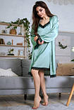 Комплект для сна халат и ночная рубашка, фото 3