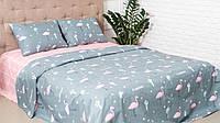 Двуспальный Евро Комплект постельного белья IMAN из Бязи, Хлопок GOLD LUX  Постільна білизна
