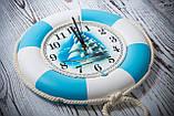 """Часы деревянные """"Спасательный круг """", фото 4"""