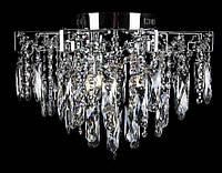 Підвісна кришталева люстра в сріблі на 4 лампи, фото 1