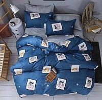 Семейный Комплект постельного белья IMAN из Полисатина,  2 пододеяльника 1 наволочка Постільна білизна