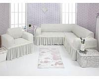 Чехол на угловой диван и кресло