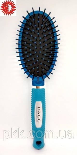 Расчёска для волос DAGG массажная пластиковая с пластиковыми зубчиками 25 см 9551 TBU