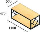 Стол журнальный Ромбо (серия Loft) ТМ Металл-Дизайн, фото 2