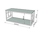 Стол журнальный Ромбо (серия Loft) ТМ Металл-Дизайн, фото 4