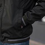 Чоловіча куртка (вітрівка) кольору хакі. Великого розміру, фото 3