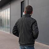 Чоловіча куртка (вітрівка) кольору хакі. Великого розміру, фото 4