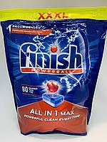 Таблетки Finish All In 1 МАХ для посудомоечной машины, 80 шт