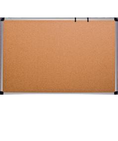 Доска для объявлений пробковая размером 100х180 см, алюминиевая рама О-line