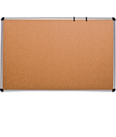 Доска для объявлений пробковая размером 100х180 см, алюминиевая рама О-line, фото 1