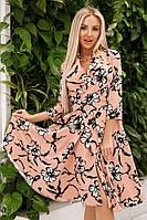 Летнее платье в цветок батал