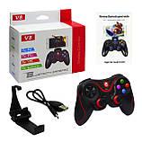 Беспроводной контроллер игровой Bluetooth Джойстик V8, фото 5