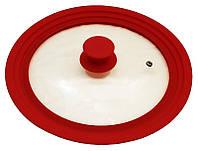 Крышка универсальная Vitrinor Spain Red 18 20 22 см стеклянная с силиконовым ободком psgVI-110866, КОД: 1143709