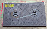 Дверцята чавунна зі склом (290х320 мм) печі, барбекю, мангал, фото 7