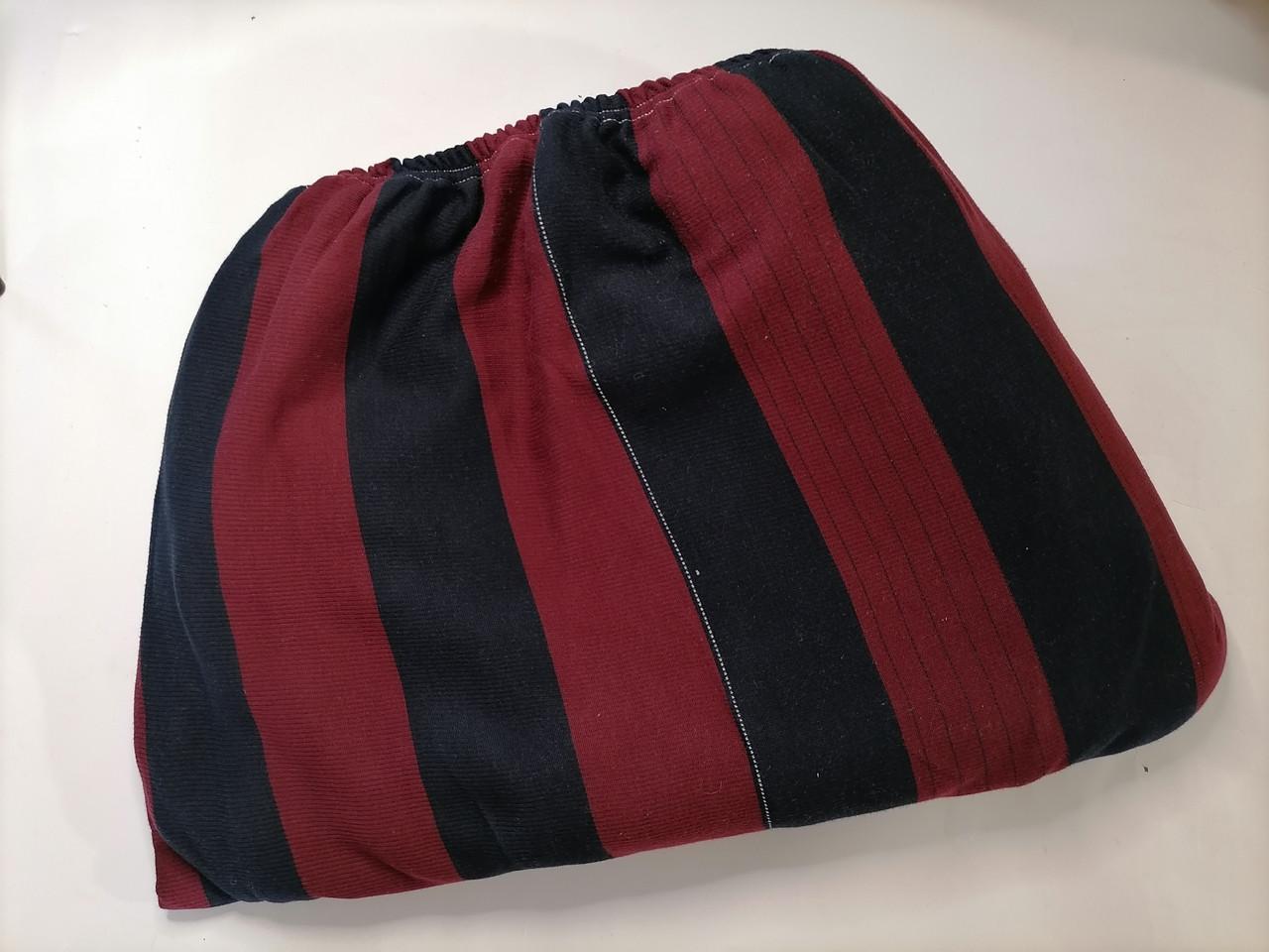 Трикотажная простынь на резинке 180*200 Сине красная полоса, Турция