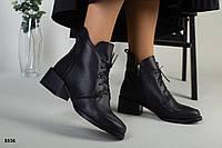 Ботинки женские черные из натуральной кожи, фото 1