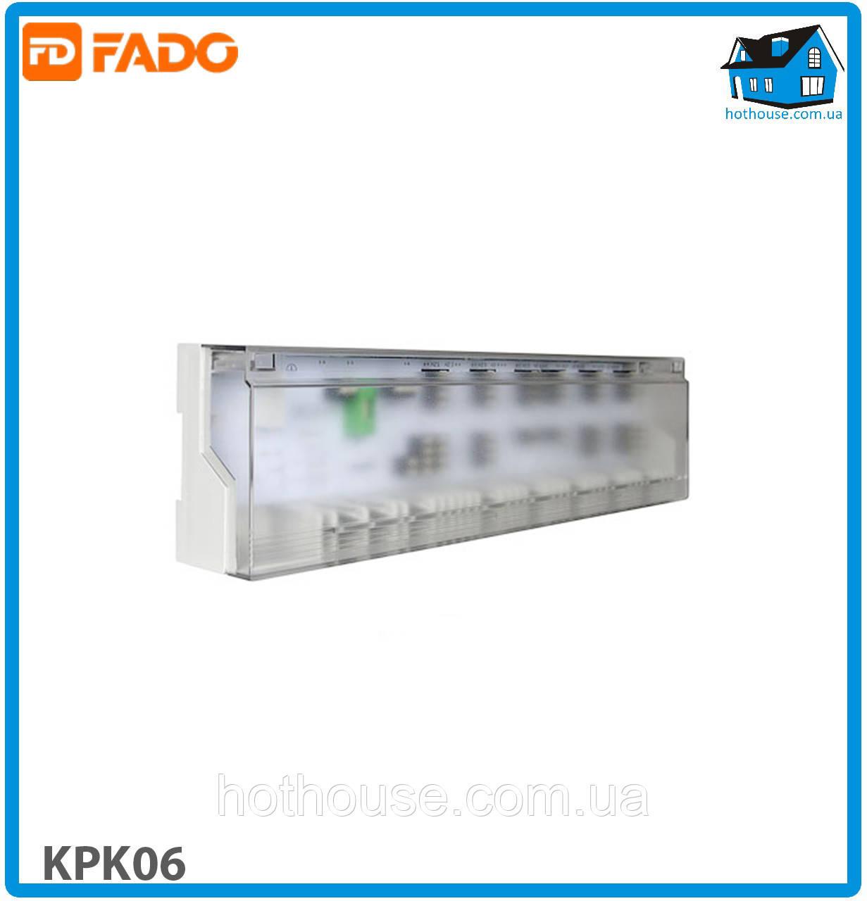 Колодка клеммная FADO KPK06 FLOOR 24/220V 6 зон