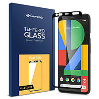 Защитное стекло Caseology Tempered Glass Full Cover Screen Protector для Google Pixel 4 XL Black  (AGL00594)