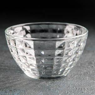 Салатник стеклянный маленький ОСЗ Монарх в кубик 11 см (07с1324), фото 2