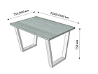 Каркас для столу Бінго (серія Loft) ТМ Метал-Дизайн, фото 4
