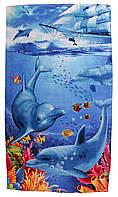 Пляжное полотенце сауна (велюр-махра) 100х180.