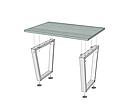 Каркас для стола Бинго Лайт (серия Loft) ТМ Металл-Дизайн, фото 3