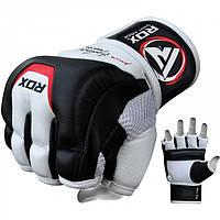 Кожаные боксерские снарядные перчатки для груши RDX с открытыми пальцами, битки для бокса единоборств