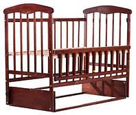 Детская кроватка с маятниковым механизмом Ольха темная Наталка
