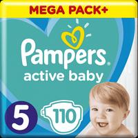 Підгузники дитячі Pampers Active Baby Junior 5 (11-18 кг) Mega Pack 110 шт, фото 1