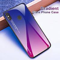 Чехол Gradient для телефону Xiaomi Redmi Note 7 на сяоми ксиоми редми ноте нот 7 градиент чохол стеклянный