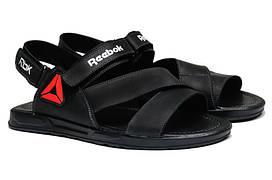 Чоловічі сандалі з натуральної шкіри Black RBK р. 46 47 48 49 50