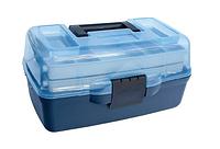 Ящик органайзер для рибалки, Универсальный Ящик, ящик для рыбалки ,органайзер, Ящик рыболовный 2 полки AQUATEC