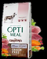 Сухой беззерновой полнорационный корм Optimeal для взрослых собак всех пород - утка и овощи 10 кг