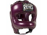 Кожаный боксерский шлем с бампером Cleto Reyes Nylon Face Bar, закрытый шлем для бокса и единоборств