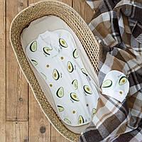 """Евро пеленки для новорожденных на молнии с шапочкой """"Part"""", Авокадо, для деток 0-3 мес."""