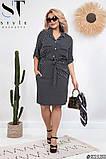 Жіноче літнє плаття великого розміру: 46-48, 50-52, 54-56, 58-60, фото 5