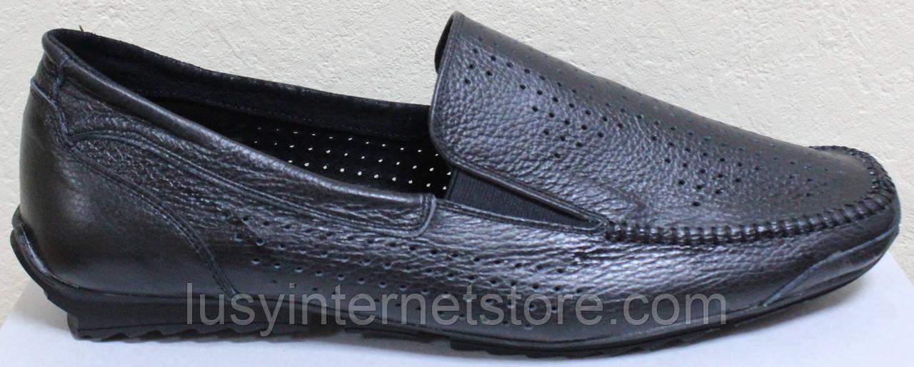 Мокасины кожаные мужские большого размера от производителя модель ББ015