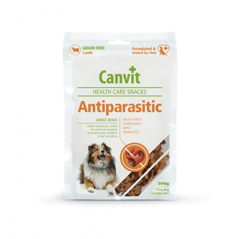 АНТИПАРАСИТИК Canvit ANTIPARASITIC напіввологе функціональне ласощі для собак, 200 г, 250 снеків