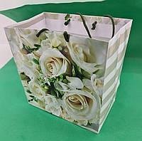 Пакет бумажный подарочный квадратный ы 23*24*10(артKV-001) (12 шт), фото 1