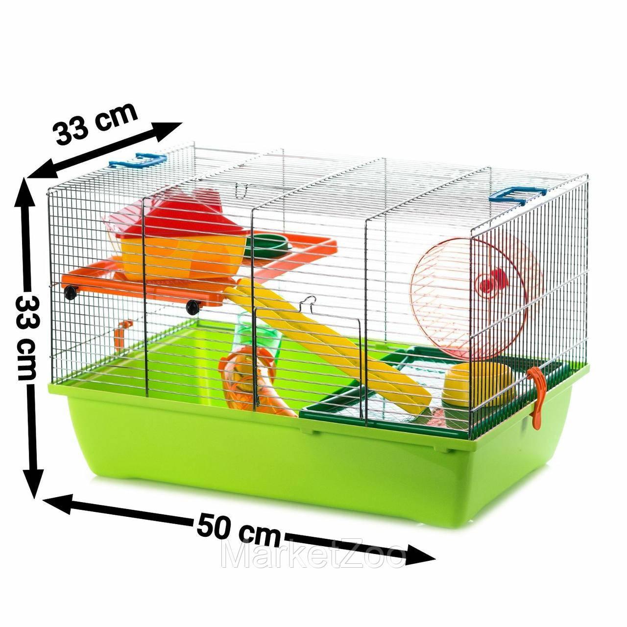 Клетка для хомяков,крыс,белок дегу с трубами (500*330*330)